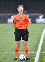 referee Irmgard Van Meirvenne pictured during a female soccer game between Club Brugge Dames YLA and Eendracht Aalst Ladies on the 9 th matchday of the 2020 - 2021 season of Belgian Scooore Womens Super League , saturday 12 December 2020  in Brugge , Belgium . PHOTO SPORTPIX.BE | SPP | DAVID CATRY