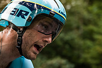Hugo Houle (CAN/Astana) on the steep parts of the individual time trial up the infamous Planche des Belles Filles<br /> <br /> Stage 20 (ITT) from Lure to La Planche des Belles Filles (36.2km)<br /> <br /> 107th Tour de France 2020 (2.UWT)<br /> (the 'postponed edition' held in september)<br /> <br /> ©kramon