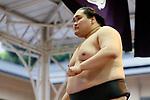 Terunofuji, <br /> APRIL 17, 2017 - Sumo : Yasukuni Shrine Honozumo is a ceremonial annual sumo tournament held in the precincts of the Yasukuni Shrine in Tokyo, Japan. (Photo by Yohei Osada/AFLO SPORT)
