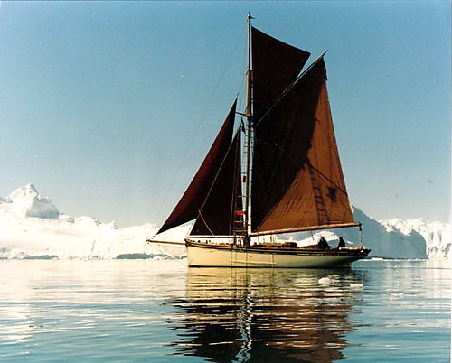 Adrian Spence's 1873-vintage Pilot Cutter Madcap off Greenland in 1998