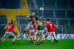 David Moran, Kerry in action against Paul Walsh, Cork, during the Munster GAA Football Senior Championship Semi-Final match between Cork and Kerry at Páirc Uí Chaoimh in Cork.