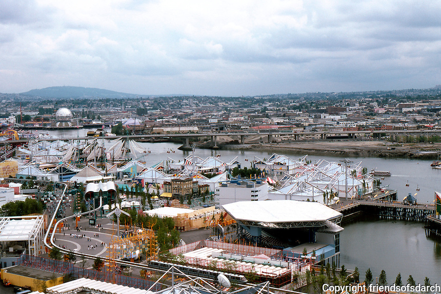 Vancouver: EXPO '86--Panorama from top of Space Drop.  Photo '86.