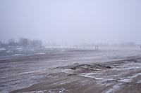 Snow Storm at Woodbine Beach Toronto Ontario Canada North America