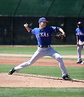 Wes Robertson - Texas Rangers 2019 spring training (Bill Mitchell)