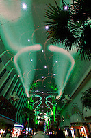 Laser light show on Fremont Street, in Downtown Las Vegas, Nevada.