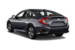 Car pictures of rear three quarter view of a 2019 Honda Civic Elegance 4 Door Sedan angular rear