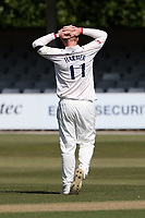 Frustration for Simon Harmer of Essex during Essex CCC vs Durham CCC, LV Insurance County Championship Group 1 Cricket at The Cloudfm County Ground on 18th April 2021