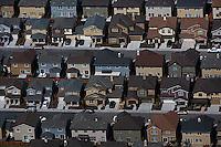 aerial photograph dense residential development in Petaluma, Sonoma County, California