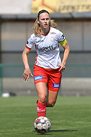 Pauline Windels (5) of Zulte Waregem  pictured during a female soccer game between SV Zulte - Waregem and White Star Woluwe on the 10 th and last matchday in play off 2 of the 2020 - 2021 season of Belgian Scooore Womens Super League , saturday 29 of May 2021  in Zulte , Belgium . PHOTO SPORTPIX.BE | SPP | DIRK VUYLSTEKE