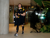 Photo: Richard Lane/Richard Lane Photography. Leinster Rugby v Wasps.  European Rugby Champions Cup Quarter Final. 01/04/2017. Wasps' Thomas Young arrives at the stadium.