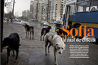 French Weekly magazine L'EXPRESS on the street dogs in Sofia, Bulgaria, 04.2012.<br />
