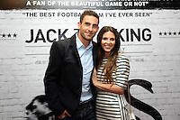 Pictured: Footballer Angel Rangel with his wife. Sunday 14 September 2014<br />