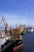 Paranagua Port, Parana State, Brazil. Ships at the docks.