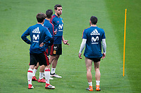 Spain Cesar Azpilicueta, Lucas Vazquez, Dani Carvajal and Alvaro Odriozola during training session the day before Spain and Argentina match at Wanda Metropolitano in Madrid , Spain. March 26, 2018. (ALTERPHOTOS/Borja B.Hojas) /NortePhoto NORTEPHOTOMEXICO