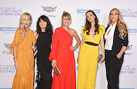 BRENTWOOD, CA - JUNE 11: (L-R) Fashion designer Rachel Zoe, actresses Selma Blair, Rebecca Gayheart-Dane, Liz Carey and Elizabeth Berkley arrive at the 15th Annual Chrysalis Butterfly Ball at a private residence on June 11, 2016 in Brentwood, California.