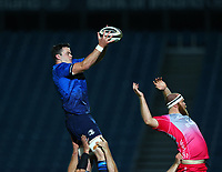 2nd October 2020; RDS Arena, Dublin, Leinster, Ireland; Guinness Pro 14 Rugby, Leinster versus Dragons; James Ryan (Leinster) gathers the lineout ball