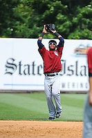 Mahoning Valley Scrappers infielder Claudio Bautista (12) during game against the Staten Island Yankees at Richmond County Bank Ballpark at St.George on July 22, 2013 in Staten Island, NY.  Mahoning Valley defeated Staten Island 8-2.  Tomasso DeRosa/Four Seam Images