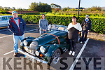 Members of the Kerry Veterans Vintage and Classic Car Club get ready for road for their Palliative Care fundraising drive around Kerry on Saturday. L to r: Ian Waugh, Myra O'Sullivan, Kathleen Heir and Karen Ryan Waugh