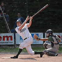 May 6, 2007:  New York Mets International Singing Kai Gronauer at bat while playing amateur baseball in Germany.  Gronauer, a catcher, signed with the Mets in 2008.  Photo By Gregor Eisenhuth/Four Seam Images