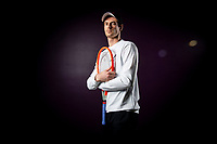 22nd February 2021, Montpellier, France; Andy Murray poses during a personal photoshoot at the  The Open Sud de France Tennis tournament in Montpellier