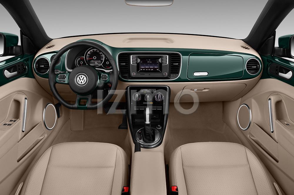 Stock photo of straight dashboard view of 2018 Volkswagen Beetle 1.8T-Dune-Conv.-auto 2 Door Convertible Dashboard