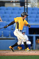 Bradenton Marauders outfielder Michael Fransoso (3) at bat during a game against the Dunedin Blue Jays on April 14, 2015 at Florida Auto Exchange Stadium in Dunedin, Florida.  Bradenton defeated Dunedin 7-1.  (Mike Janes/Four Seam Images)