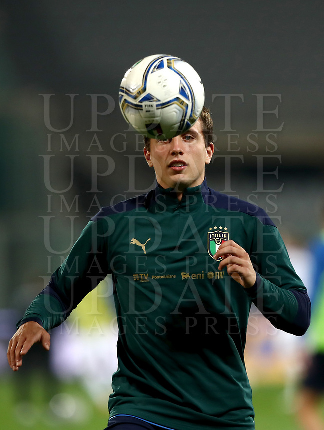 FBL- Friendly football match Italy vs Estonia at the Artemio Franchi stadium in Florence on November 11, 2020.<br /> Italy's Luca Pellegrini warms up during the friendly football match between Italy snd Estonia at the Artemio Franchi stadium in Florence on November 11, 2020. UPDATE IMAGES PRESS/Isabella Bonotto