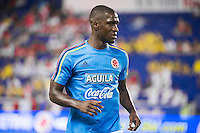 HARRISON, NJ - Tuesday, September 8, 2015: The national teams of Colombia and Peru tie 1-1 in an international friendly at Red Bull Arena.