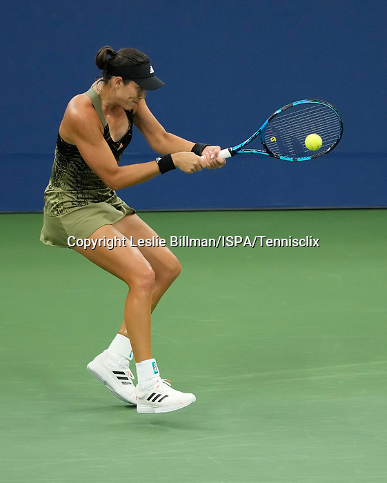 September  1, 2021:  Garbine Muguruza (ESP) defeated Andrea Petkovic (GER)  6-4, 6-2, at the US Open being played at Billy Jean King Ntional Tennis Center in Flushing, Queens, New York. Leslie Billman/Tennisclix/CSM/CSM
