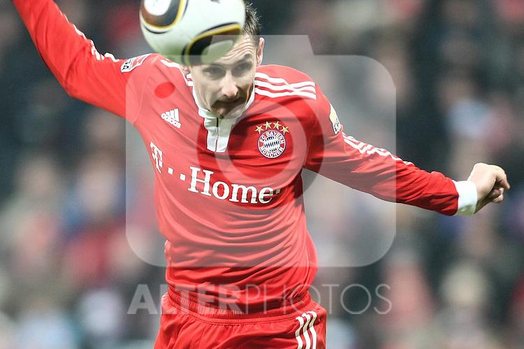 13.03.2010, Allianz Arena, Muenchen, GER, 1. FBL, FC Bayern München vs SC Freiburg, im Bild Miroslav Klose (FC Bayern Nr.18)  , Foto © nph / Straubmeier