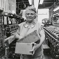 Narrow fabric weaver. Arbeka Webbing, Pawtucket, RI
