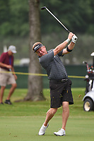 April 29th 2021, The Woodlands, Texas USA;  Paul Broadhurst watches his second shot on 1 during the preview of the 2021 Insperity Invitational at The Woodlands Country Club on April 29, 2021 in The Woodlands, Texas.