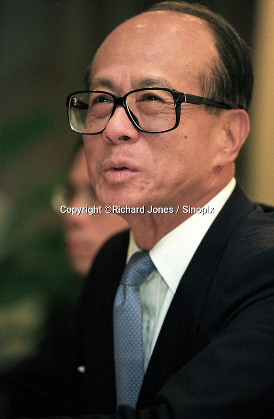 Li Ka Shing, Hong Kong's richest person as in 2016 on Forbes lists.  Chairman of CK Hutchison Holdings in Hong Kong