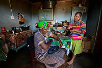 The NGO Nest is partnering with the Gone Rural local artisans to help market their products to global markets and better sustain their local community in Swaziland, Africa. Sibongde Zwabe and her daughter Gacebue both work weaving baskets and products, often working from home as Gacebue has a baby daughter.