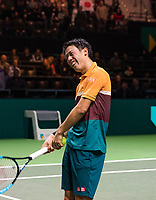 Rotterdam, The Netherlands, 14 Februari 2019, ABNAMRO World Tennis Tournament, Ahoy, Kei Nishikori (JPN),<br /> Photo: www.tennisimages.com/Henk Koster