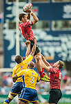 Russia vs Barbados during the Cathay Pacific / HSBC Hong Kong Sevens at the Hong Kong Stadium on 28 March 2014 in Hong Kong, China. Photo by Juan Flor / Power Sport Images