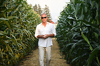 DYERSVILLE, IOWA - AUGUST 11: Kevin Costner in the corn maze at the Fox Sports MLB Field of Dreams game on August 11, 2021 in Dyersville, Iowa. The MLB Field of Dreams game between the Yankees and White Socks will be on August 12 on Fox. (Photo by Frank Micelotta/Fox Sports/PictureGroup)