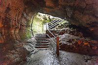 Exit from the Thurston Lava Tube in Hawai'i Volcanoes National Park, Big Island.