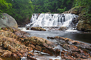 Campton Falls on the Beebe River in Campton, New Hampshire USA during the summer months.