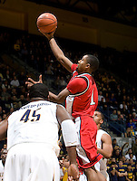 11 November 2009:  Chase Simon of Detroit shoots the ball during the game against California at Haas Pavilion in Berkeley, California.   California defeated Detroit, 95-61.
