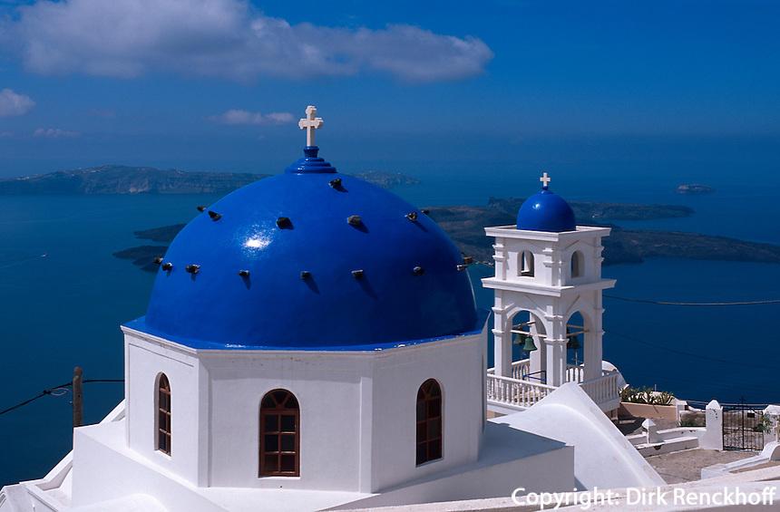 Kirche Panagia Maltesa in  Imerovigli, Insel Santorin (Santorini), Griechenland, Europa
