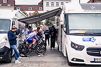 Team FDJ Nouvelle Aquitaine Futuroscope warming up at the race start<br /> <br /> AG Driedaagse Brugge-De Panne 2020 (1.WWT)<br /> 1 day race from Brugge to De Panne (156km) <br /> <br /> ©kramon