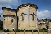 France, Aquitaine, Landes (40) , Hastingues: Abbaye d'Arthous , l'église Notre Dame - le chevet /  France, Aquitaine, Landes, Hastingues: Arthous abbey, apse