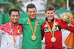 Michael Sametz, Rio 2016 - Para Cycling // Paracyclisme.<br /> Michael Sametz wins the bronze in the Para Cycling Time Trial Men's C3 // Michael Sametz remporte la médaille de bronze du Paracyclisme contre la montre masculin C3. 14/09/2016.