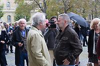Franz-Olivier Giesbert et Éric Naulleau - Hommage à Gonzague Saint Bris en l'église Saint-Sulpice à Paris, France - 28/9/2017