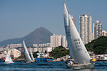 Competitors in action during the Around the Island regatta 2014 at Hong Kong on November 16, 2014 in Hong Kong, China. Photo by Xaume Olleros / Power Sport Images