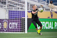 Orlando, Florida - Sunday, May 14, 2016: Western New York Flash goalkeeper Britt Eckerstrom (28) warms up prior to a National Women's Soccer League match between Orlando Pride and New York Flash at Camping World Stadium.