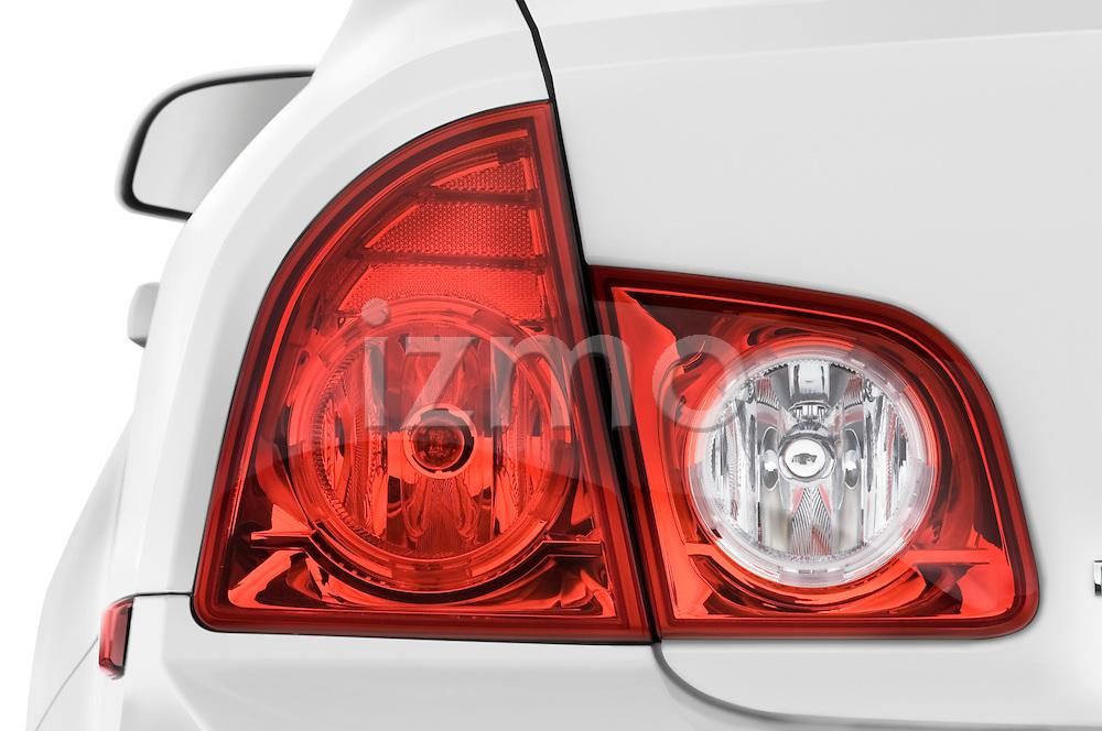 Tail light close up detail view of a 2008 Chevrolet Malibu Sedan