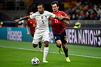 Jules Kounde of France and Mikel Oyarzabal of Spain compete for the ball during the Uefa Nations League final match between Spain and France at San Siro stadium in Milano (Italy), October 10th, 2021. Photo Andrea Staccioli / Insidefoto
