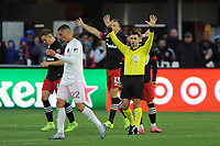 WASHINGTON, DC - MARCH 07: Referee Rubiel Vazquez ending the match during a game between Inter Miami CF and D.C. United at Audi Field on March 07, 2020 in Washington, DC.